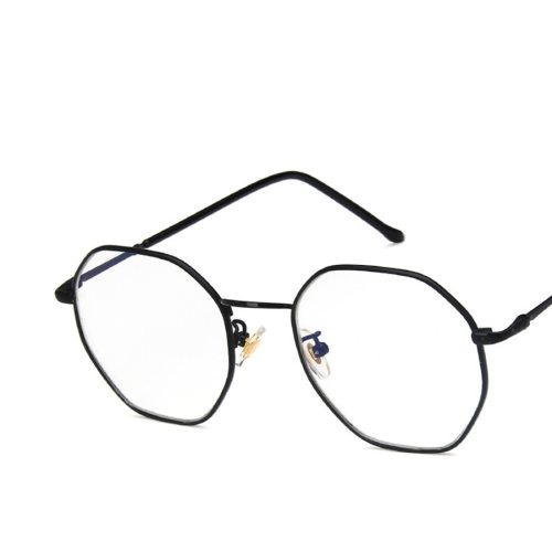 Unisex Light Weight Metal Frame Plain Glasses Eyeglasses Solid Color Cycling Accessory Rivet Cat Eye