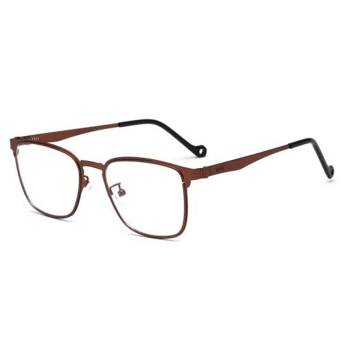 Men's Eyeglasses Vintage Style Plain Glasses Protective Glasses Accessory Fashion Top Fashion Rimless Rivet Solid Color