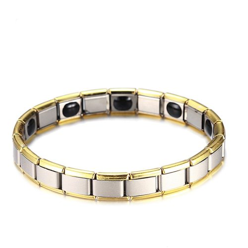 Men's Bracelet Color Block Patchwork Fashion Stainless Steel Punk Vintage Vintage Bracelets
