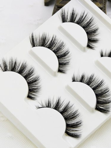 Thick Artificial Eyelashes Messy Cross Thick Natural Lash Extensions Professional Makeup Product Description- Brand:GXO BEAUTY- - Tech:Handmade- Sun
