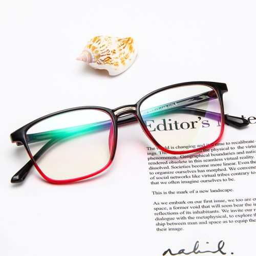 SAN VITALE Men's Eyeglasses Square Frame Plain Glasses Solid Color Casual Fashion Accessory Wayfarer