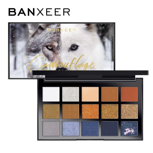 BANXEER 15 Colors Eye Shadow Palette Lasting Eye Dry Waterproof