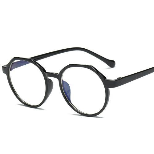 Men's Light Weight Plain Glasses Rivet Accessory Solid Color Fashion Cat Eye Eyeglasses