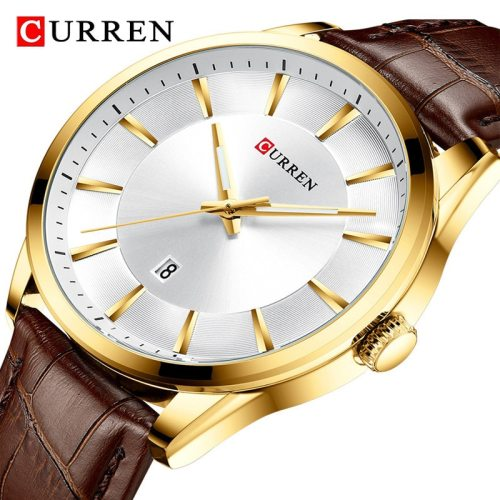 Curren Men's Quartz Watch Fashion Water Proof Simple Scratch Resistant Calendar PU Stainless Steel Brand:CURRENItme:8365Waterproof:3 ATMWeight:65g