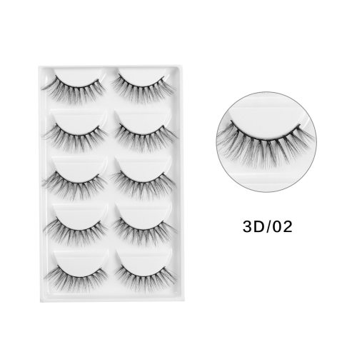 5 Pairs Artificial Eyelashes Set Fashion Natural Black Thick Reusable Description:  100% Brand new  Color: Black  Make your eyes look bright and  For