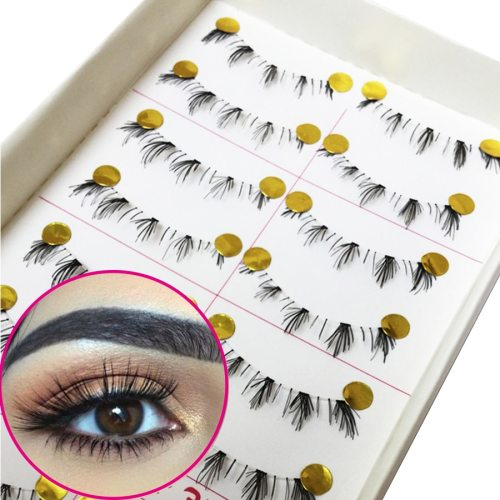 Natural Artificial Eyelashes Soft Lower Under Bottom Imitated Lengthening apply eye shadow or eyeliner to make your eye line look more natural Dry