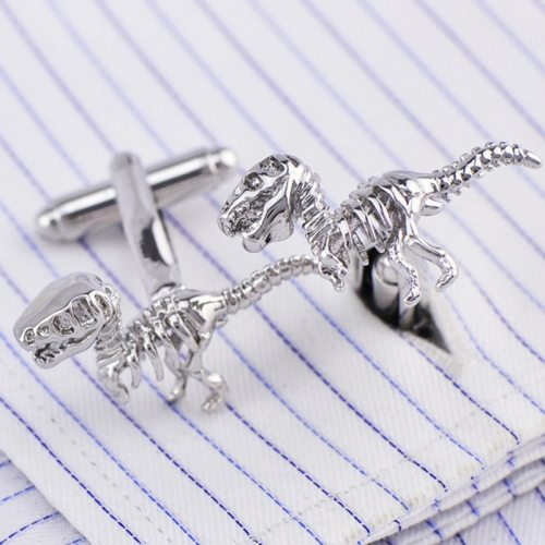 One Pair Men's Cufflinks Solid Color Fashion Creative Fine Metal Decoration Top Fashion Animal