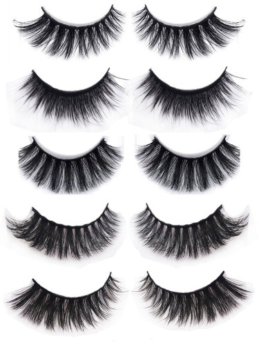5 Pairs Artificial Eyelashes Animal Hair Lash Extensions Thick Imitation daily wear Dry Waterproof