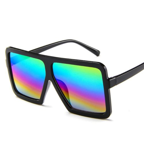 Men's UV Protection Square Frame Sunglasses Accessory Fashion Oversized