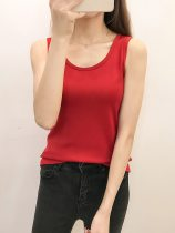 Women's Thermal Top Solid Color Fleece Thicken Warm Tank Sleeveless Crew Neck Sexy Medium