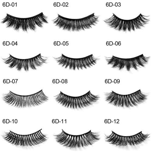 HANDAIYAN Mink 6D Hair Artificial Eyelashes Thick Waterproof Volume Lash Volumizing