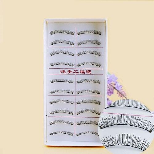 10 Pairs Artificial Eyelash Handmade Natural Thick Simulated Dry Lengthening