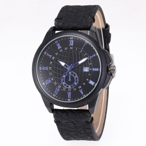 Men's Quartz Watch Fashion All Match Business Debugging time method: 1 Half-pull:calendar2 Full pull-out: time Big Dial OL Alloy PU Calendar Mineral