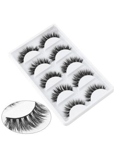 5 Pairs Black Natural False Extra Long Thick Eyelashes Fake Party Eye Dry Waterproof Length: 13-15cmItem Type: False Eyelash SetColor: BlackPackage 5