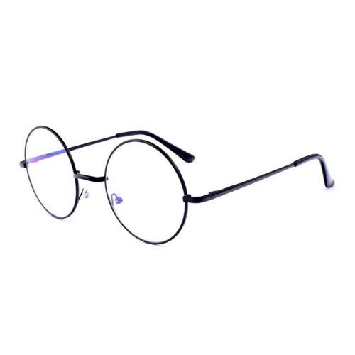 Men's Eyeglasses Light Weight Round Plain Glasses Rivet Accessory Sweet Fashion Rimless Solid Color Frame