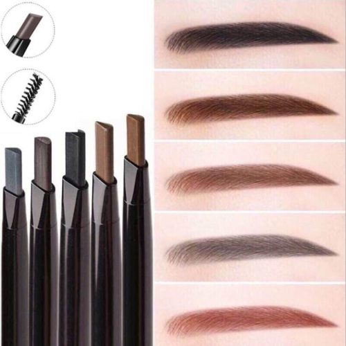 Women's Automatic Eyebrow Pencil Dual-ended Smooth Brow Drawing Double-headed automatic rotating eyebrow pencil can be waterproof and sweatproof