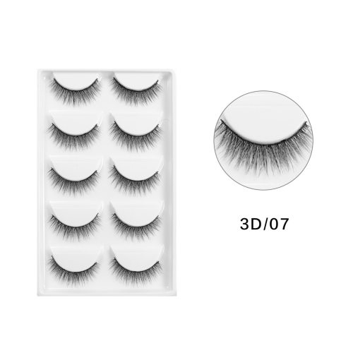 5 Pairs Artificial Eyelashes Kit 3D Natural Black Comfortable Reusable Dry Description:  100% Brand new  Color: Black  Make your eyes look bright and
