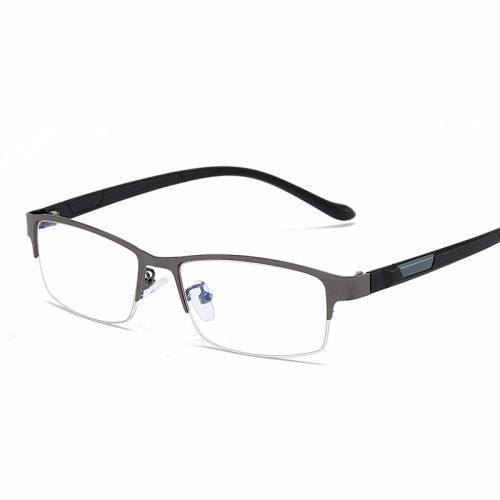 Men's Simple Square Business All-Match Accessory Solid Color Eyeglasses Metal Decoration Wayfarer Fashion Celebrity