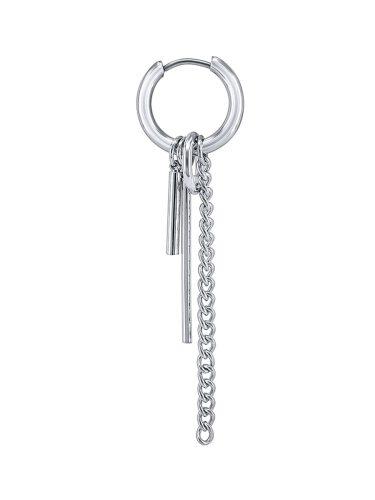 1PC Men's Earring Chain Circle Dangle Punk Stylish Earrings Accessory hoop girlfriend Fashion