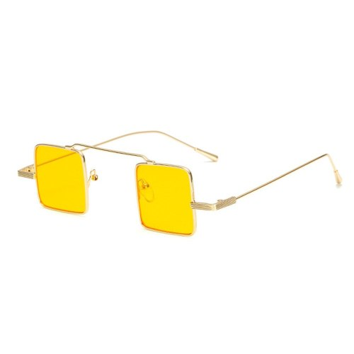 Unisex Sunglasses Lightweight UV Protection Metal Square Frame Fashion Protective Glasses Sports Solid Color Rivet Rimless Accessory