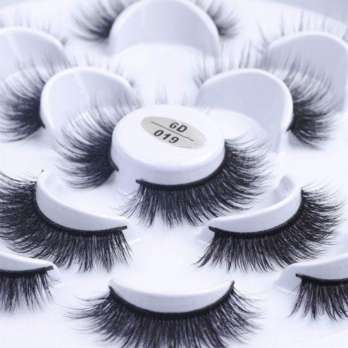7 Pairs Artificial Eyelash Handmade Long Thick Eyelash Extension Makeup