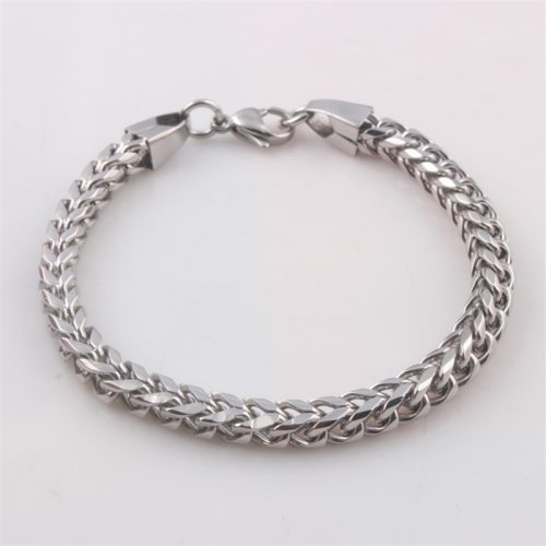 Men's Bracelet Simple All-Match Stainless Steel Fashion Infinite Charming Jewelry Solid Color Vintage Metal Decoration Vintage Bracelets