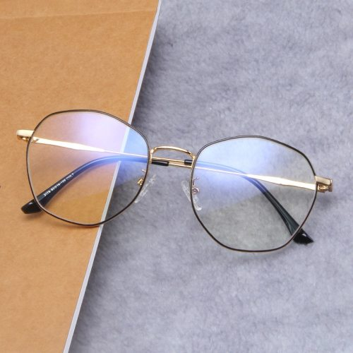 Men's Metal Frame All Match Vintage Style Fashion Round Circle Floral Eyeglasses Accessory Celebrity