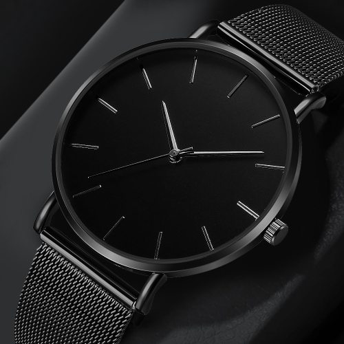 Men's Quartz Watch Fashion Mesh Strap Simple Other Solid Color 30M Waterproof Stainless Steel Alloy Glass Sexy Big Dial