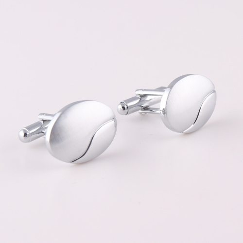 SAN VITALE Men's One Pair Cufflinks Oval Shape Carving Fashion Geometric Top Fashion
