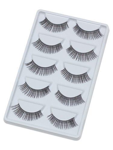 Sixplus 5 Pairs Fake Eyelash Lengthening Black Stalk False Dry Volumizing