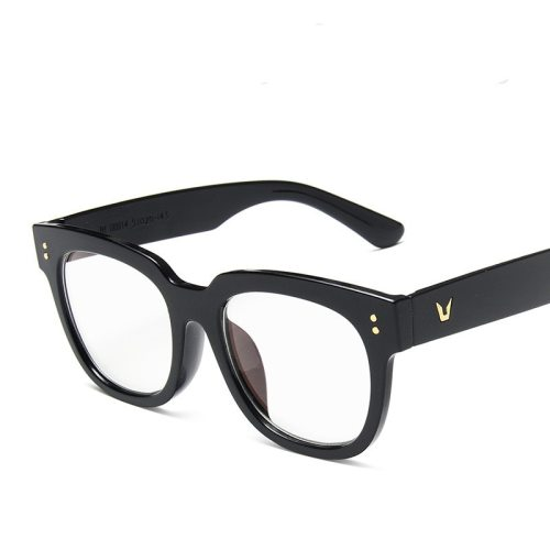 Men's Anti Blur-ray Letter Accessory Vintage Eyeglasses Fashion Oversized