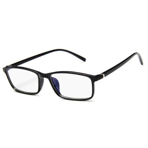 Men's Full Frame Rectangle Shape Lightweight Vintage Fashion Rivet Eyeglasses Top Fashion Solid Color