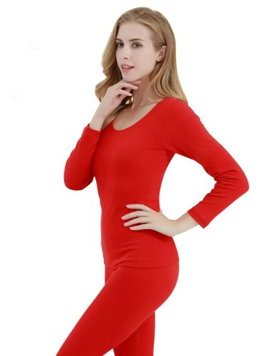 Women's Thermal Set Seamless Pants Elastic Thermal Sexy Thin Long Sleeve Crew Neck
