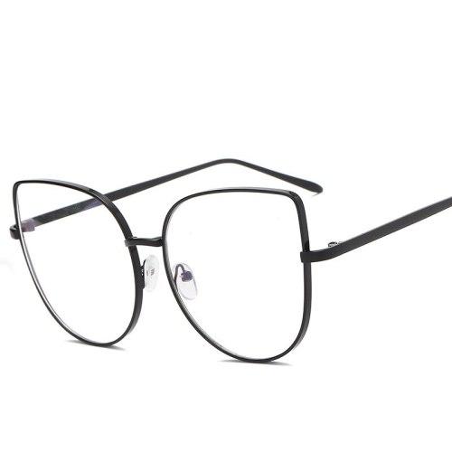Men's Eyeglasses Light Weight Metal Frame Plain Glasses Solid Color Accessory Wayfarer Cycling Reading Glasses Rivet