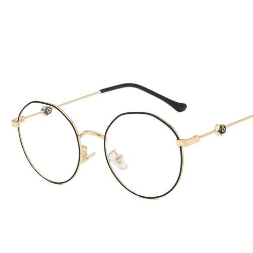 Men's Round Shaped Metal Decor Vintage Cute Eyeglasses Accessory Fashion Ethnic
