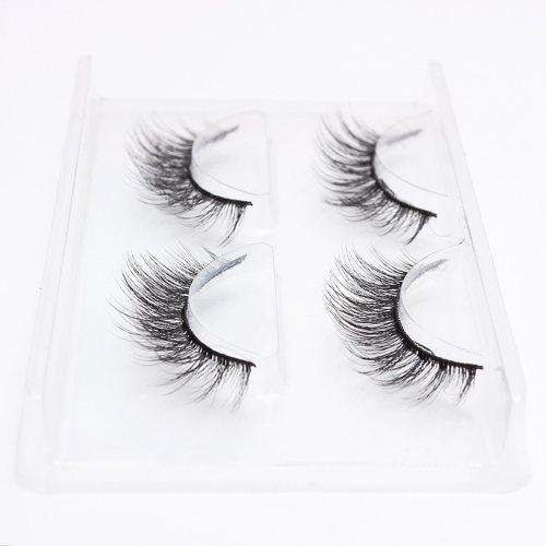 2 Pairs Multi-layer Artificial Eyelashes Natural Curly 3D Lash Volumizing