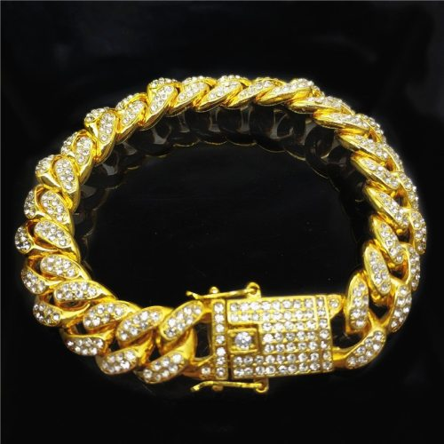 Men's Bracelet 12mm Wide Chain Hip Hop Style Fine Vintage Bracelets
