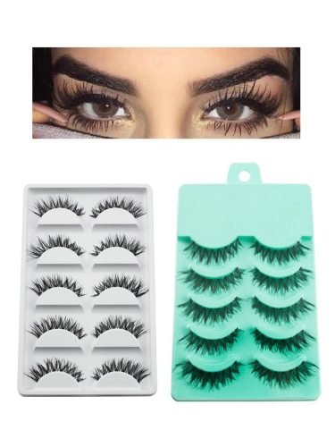 3D Eyelashes Extensions Thick Realistic Waterproof Natural Curly Artificial Volumizing size:15*9*1 Matte