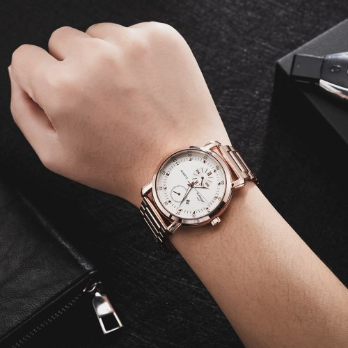 Men's Quartz Watch Fashion Simple Personality Big Dial Mineral Glass Top Fashion Rhinestone Alloy Calendar Character