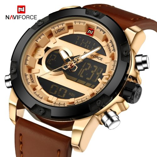NAVIFORCE Men's Electronic Watch Fashion Simple Luxurious Sports Description100% New and High QualitySports Design Men's WatchWeek Date And Time : :