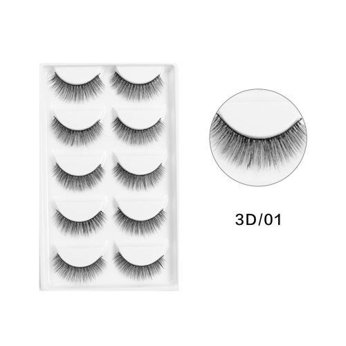 5 Pairs 3D Artificial Eyelash Black Natural Thick Curling Dry Description:  100% Brand new  Color: Black  Make your eyes look bright and attractive