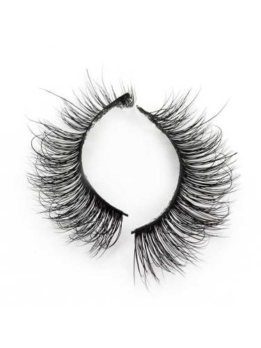 One Pair Thicker Cross Reusable Artificial Eyelashes 3D Mink Hair Handmade Natural Eye Dry trim to suitable length and widthAdd glue along the false