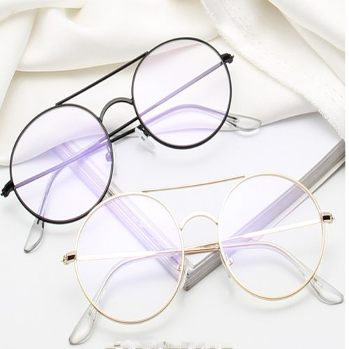 Men's Light Weight Round Frame Plain Glasses Accessory Round Circle Eyeglasses Fashion