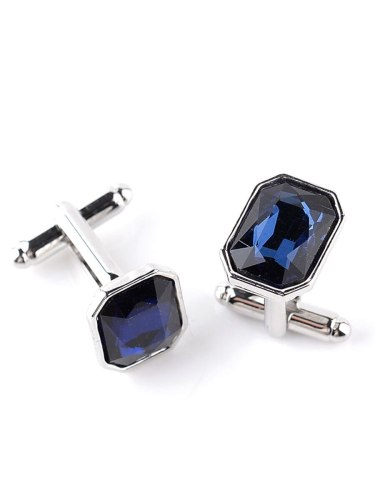 Men's 1 Pair Shirt Cufflinks Simple Stylish Glass Design Fashion