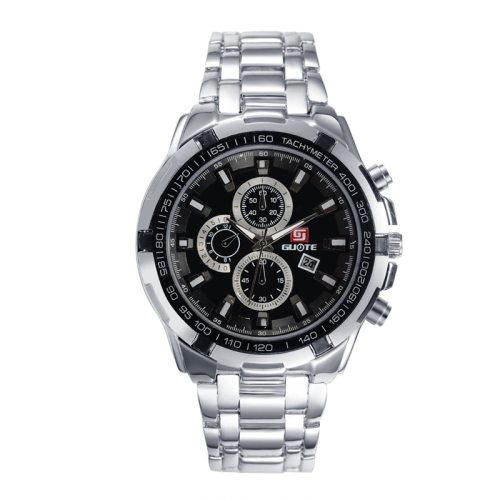 Men's Quartz Watch Fashion Steel Strap Calendar Simple Classic Top Fashion Mineral Crysta Glass Stainless Steel Big Dial