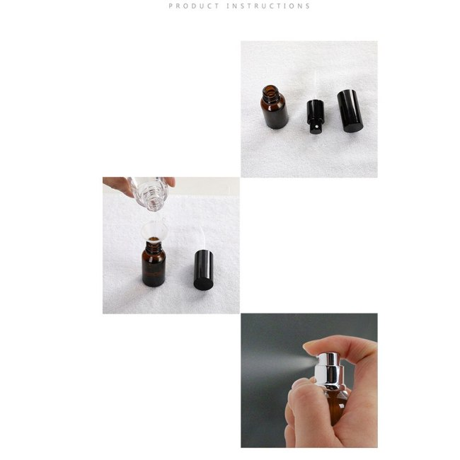 3 Pieces x 5ML Light Resistant Tawny Glass Perfume Sub-bottle Cosmetic Travel Capacity: 5mlSize: 17*65mmWeight: 10gBottle body: GlassPackage x Bottle