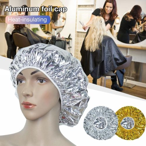 One Piece Aluminum Foil Heat Insulation Cap Professional Hairstyling Shaping good insulation performanceSpecification:Size: Approx30cm /1181inchtop