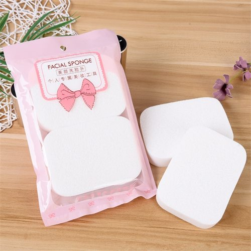 2Pcs Thicken Sponge Facial Cloths Multi Makeup Remover & Exfoliating Face All Skin Type Oil Control 2 slices