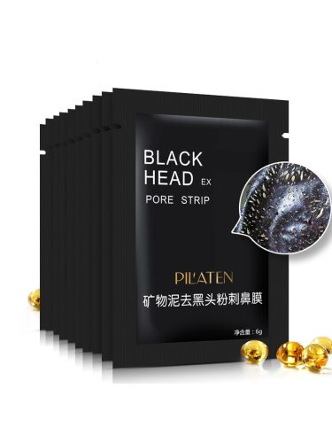 10Pcs Nose Mask Mineral Mud Blackheads Removing Pore Black Net weight: 10*6gInstructions: 1 Put warm cloth on the nose for 1-3 mins2 Apply The on 3 4