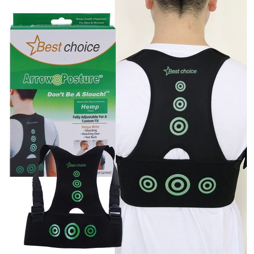 Men's Adjustable Posture Corrector Back Support Nylon Elastic Shoulder Back Brace Shaping